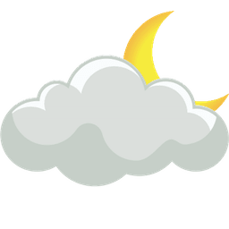 ниска облачност нощ