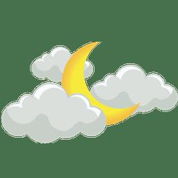 mây rải rác đêm