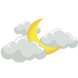 разкъсана облачност нощ