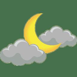 разсеяна облачност нощ