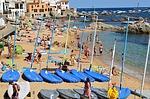Zdjęcie:   Hiszpania  Costa Brava  Tossa de Mar  (łodzie, żaglówka, morza)